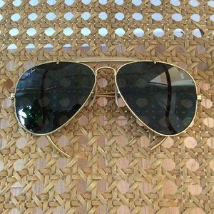 Vintage Ray-Ban aviator ear hook sunglasses